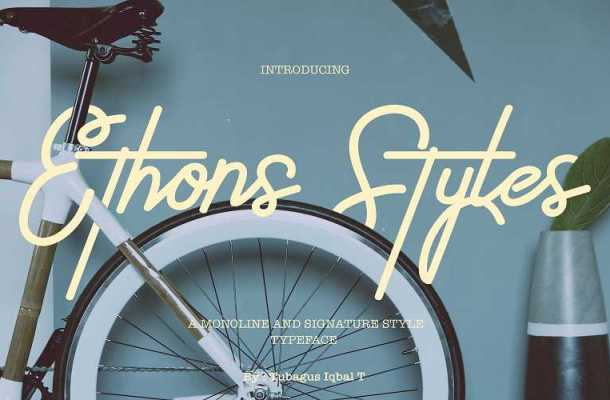 Ethons Styles Script Font Free Download
