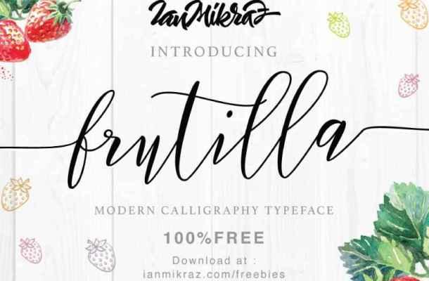 Frutilla Script Font Free Download