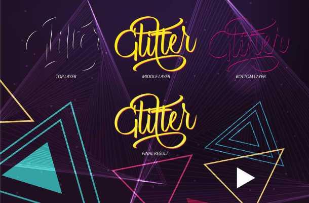 Glitter Script Font Free Download