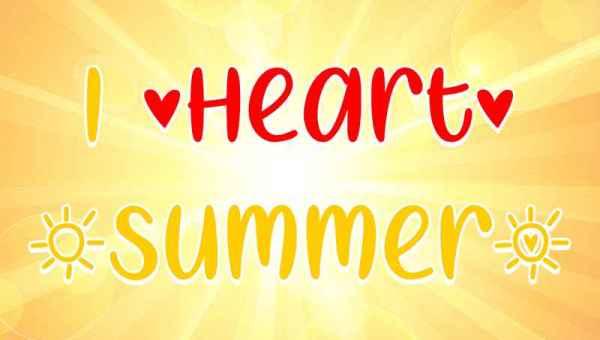 I Heart Summer Font Free Download