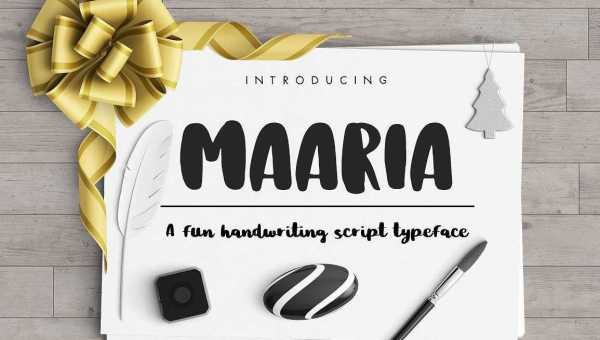Maaria Brush Font Free Download