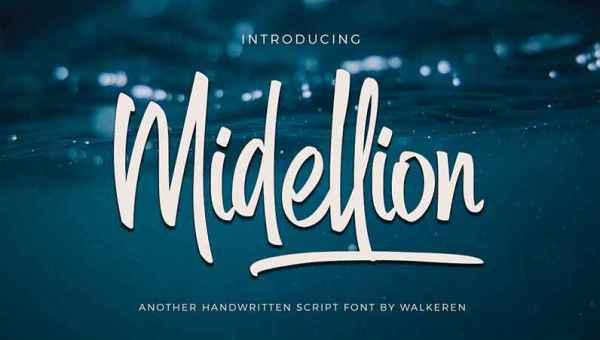 Midellion Font Free Download