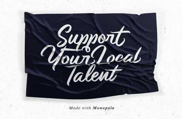 Monopola Script Font Free Download