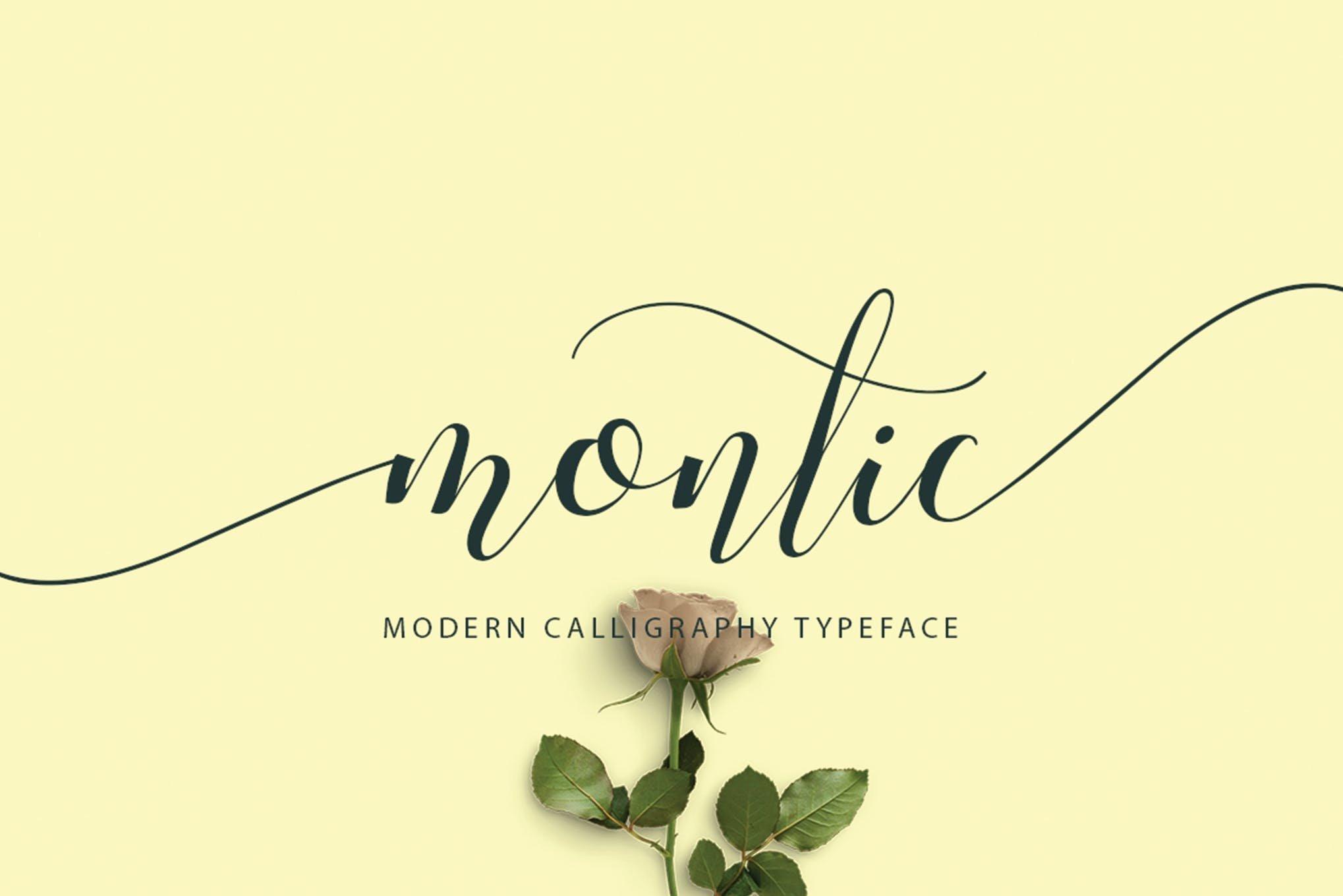montic-script-font