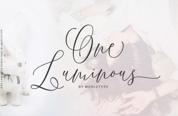 One Luminous Script Font Free Download