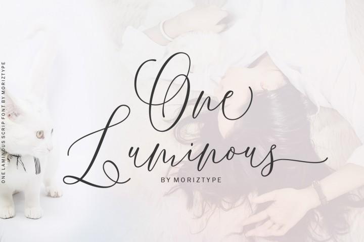 one-luminous-script-font