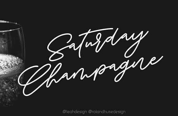 Saturday Champagne Font Free Download