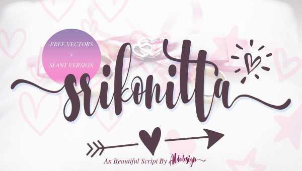 Srikonitta Script Font Free Download