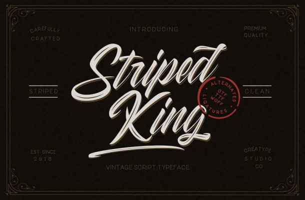 Striped King Font Free Download