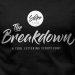 The Breakdown Font Free Download