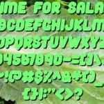 Time For Salad Font Free Download