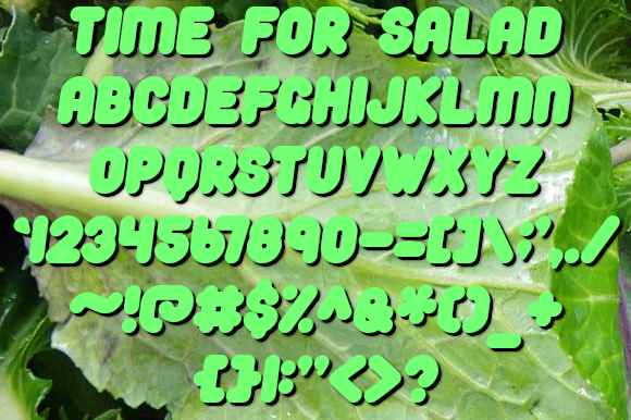 Time For Salad Font Free Download