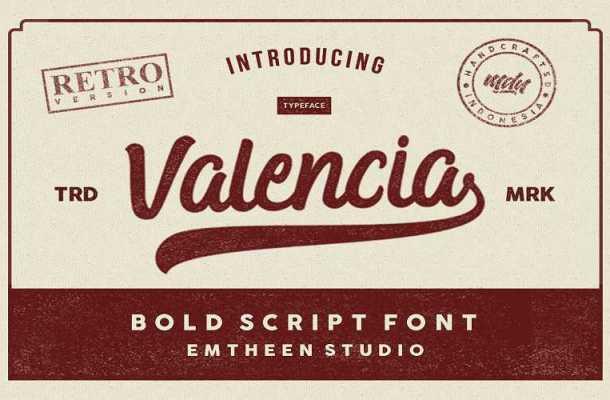 Valencia Script Font Free Download