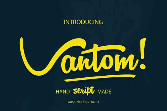 Vantom Script Font Free Download