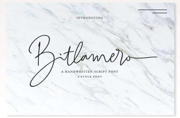 Bitlamero Signature Font Free Download