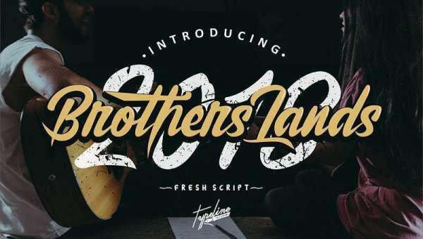 Brother Lands Script Font Free Download