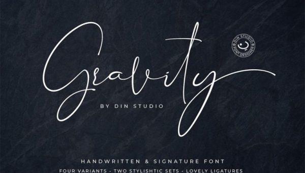 Gravity Signature Font Free Download