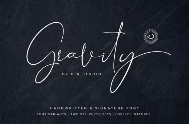 Gravity Signature Font Free Download