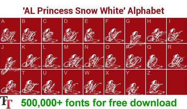 AL Princess Snow White font