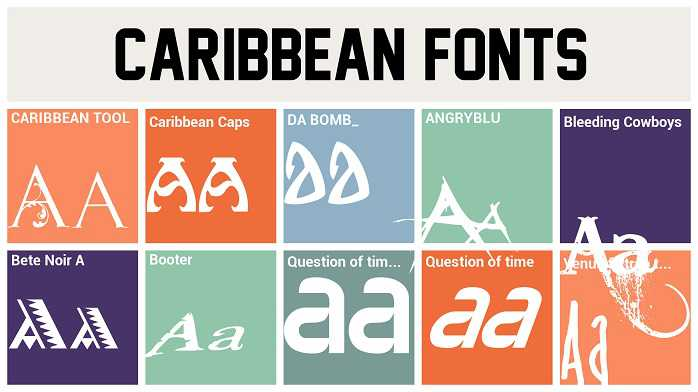 Caribbean Caps font