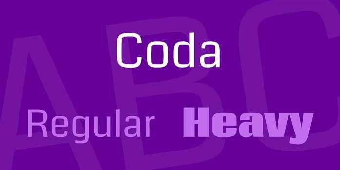Coda Font - Dafont Free