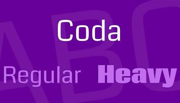 Coda Font