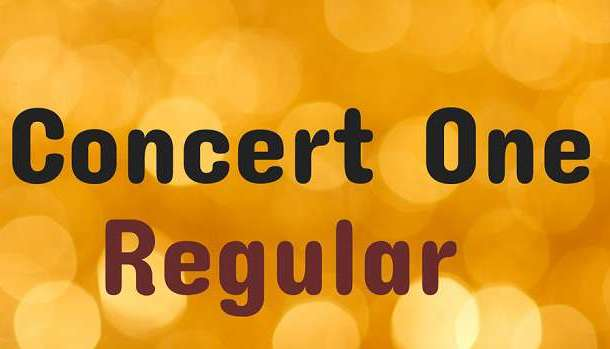 Concert One Font