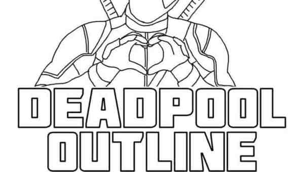 Deadpool Outline font