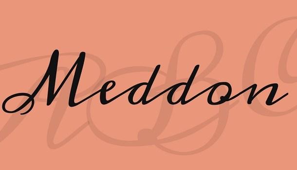 Meddon font
