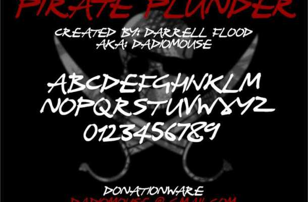 Pirate Plunder font
