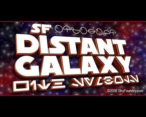 SF Distant Galaxy font