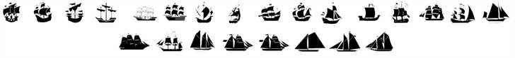 Ships font 2