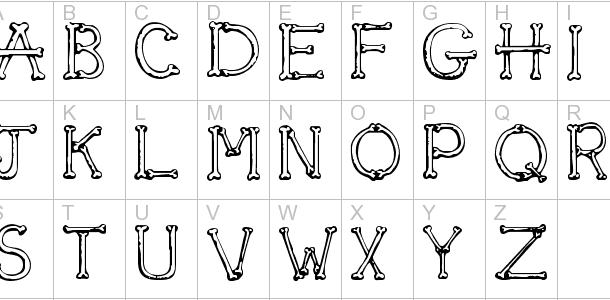 Sketch Bones font