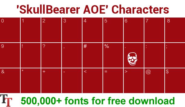SkullBearer AOE font