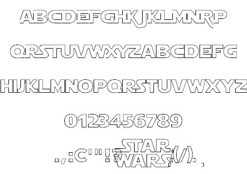 Star Jedi font 2