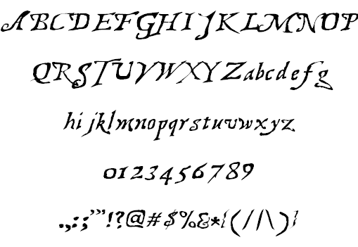 Treasure Map Deadhand font 2
