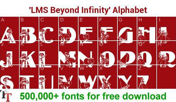 LMS Beyond Infinity font