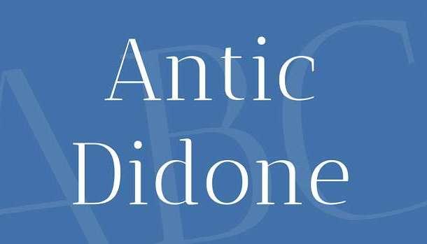 Antic Didone Font