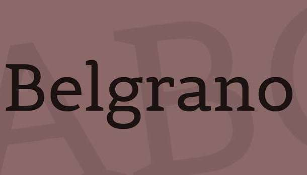 Belgrano Font