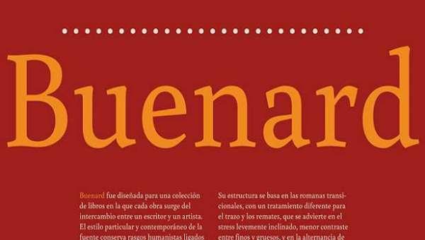Buenard Font