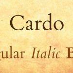 Cardo Serif Font Family