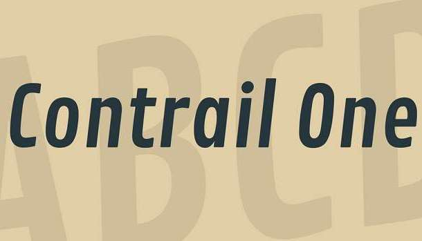 Contrail One Font
