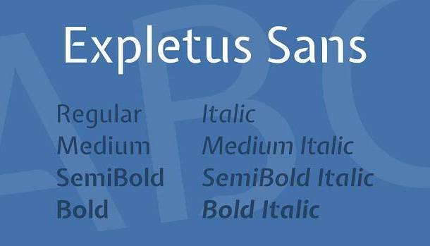 Expletus Sans Font Family