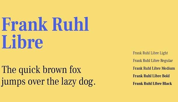 Frank Ruhl Libre Font