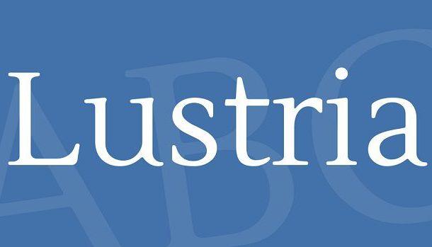 Lustria Font