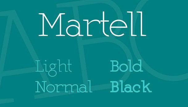 Martel Font Family