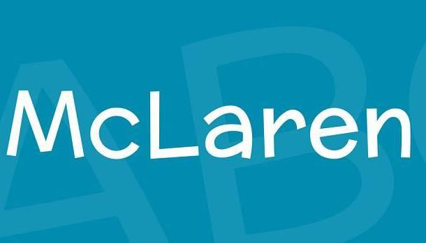 McLaren Font