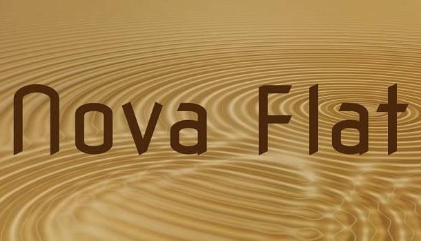 Nova Flat Font