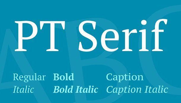 PT Serif Caption Font