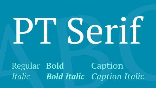 PT Serif Font